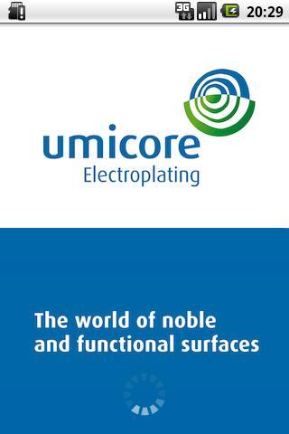 Umicore Electroplating- screenshot