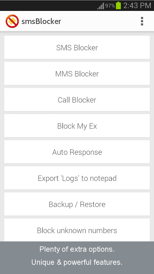 Call SMS Blocker- AWARD WINNER - screenshot