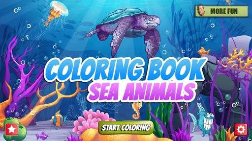 Coloring Book Sea Animals