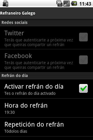 Refraneiro Galego- screenshot