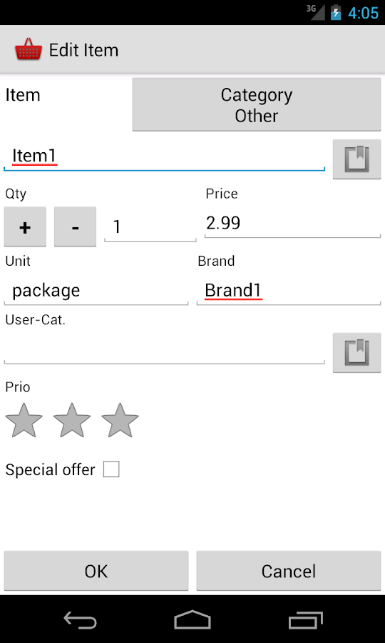 Shopping Basket Free - screenshot
