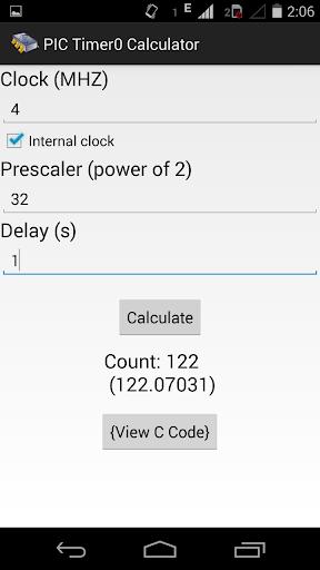 PIC Timer0 Calculator