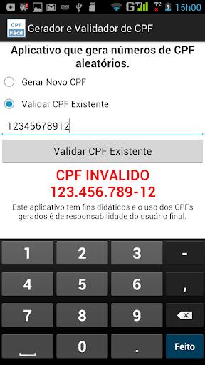 【免費工具App】Gerador e Validador de CPF-APP點子