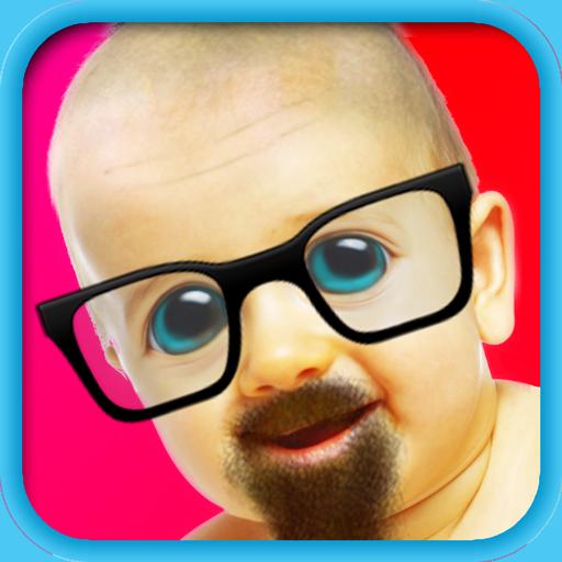 Bald & Mustache Booth Fun Pic Icon