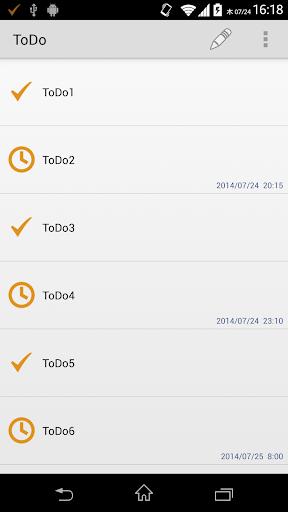 シンプルToDo ステータスバー常駐