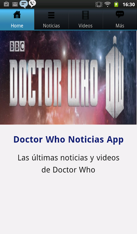 Doctor Who Noticias - screenshot