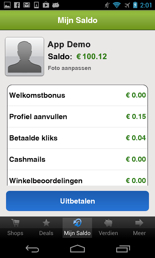 CashbackKorting - screenshot