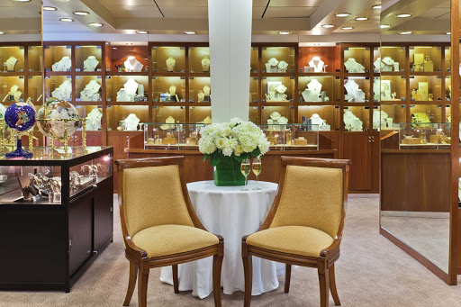 Indulge in some duty-free resort shopping in the luxury boutique aboard Seven Seas Navigator.