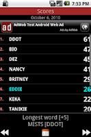Screenshot of Multiplayer WordFinder