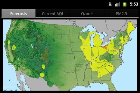 EPA's AIRNow - screenshot thumbnail