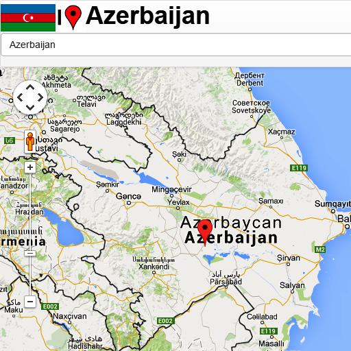 Azerbaijan Mapa