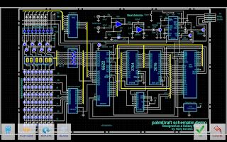 Screenshot of palmDraft Electronics CAD
