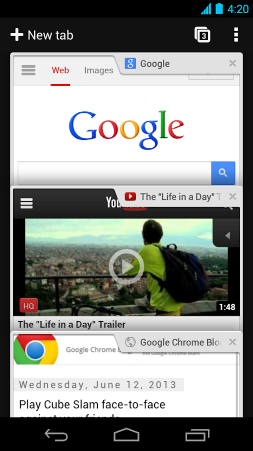 Browser Chrome - Google - screenshot