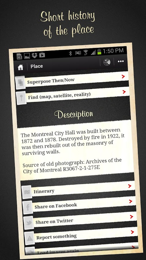 Montreal, Then and Now Guide- screenshot