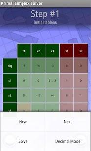Primal Simplex Solver- screenshot thumbnail
