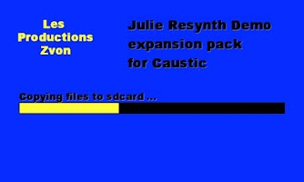 Screenshot of Julie Resynth demo for Caustic