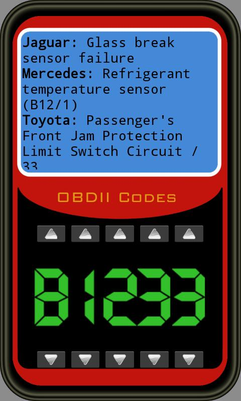 OBDII Trouble Codes Lite- screenshot
