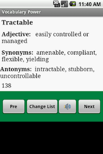 GRE SAT Vocabulary for Android - screenshot thumbnail
