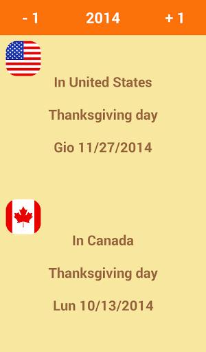 Thanksgiving day calculator