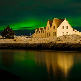Northern lights in Iceland by Brynjar Ágústsson - Buildings & Architecture Public & Historical ( suðurland, europe, landslag, nordic-countries, aurora, norðurljós, landscape, highland, south iceland, norhern lights, iceland, ísland, landscapes, straumur )