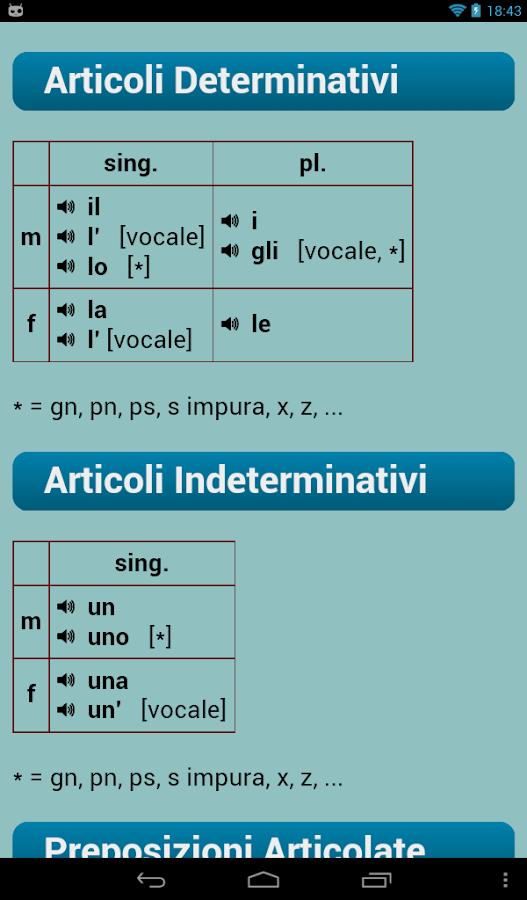 Italian Verbs - screenshot