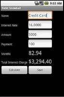 Screenshot of Debt Snowball