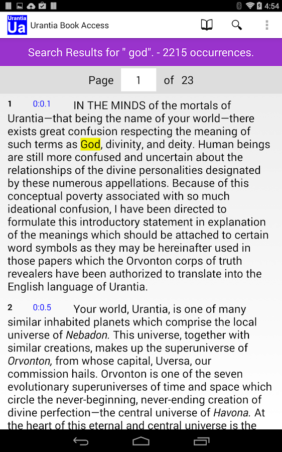Urantia Book Access- screenshot