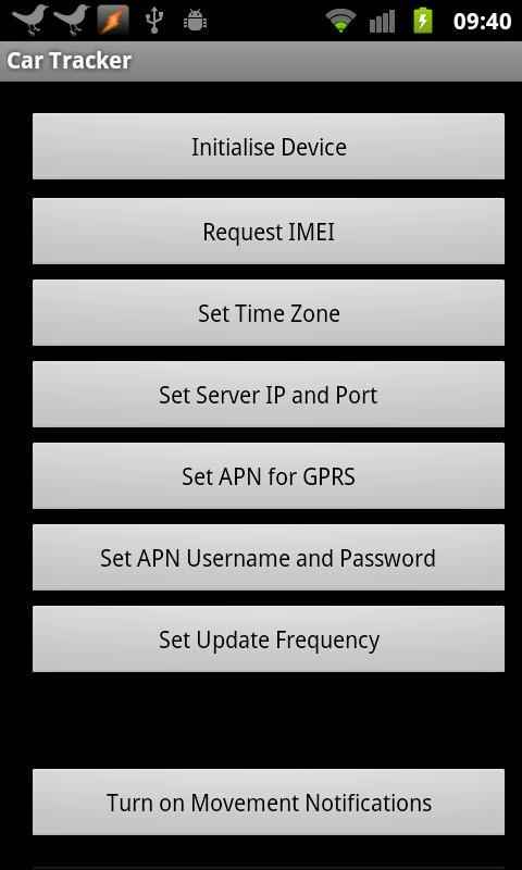 SMS GPS Car Tracker- screenshot