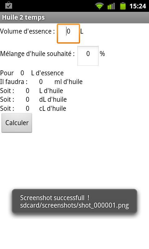 huile 2 temps- screenshot