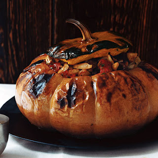 Pumpkin Stuffed with Vegetable Stew