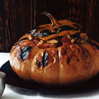 Pumpkin Stuffed with Vegetable Stew.