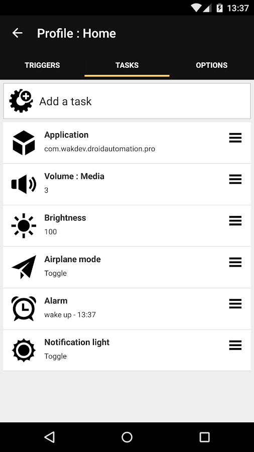 Droid Automation- screenshot