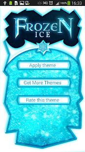 GO Keyboard Frozen Ice Theme