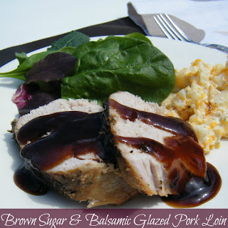 Brown Sugar & Balsamic Glazed Pork Loin.