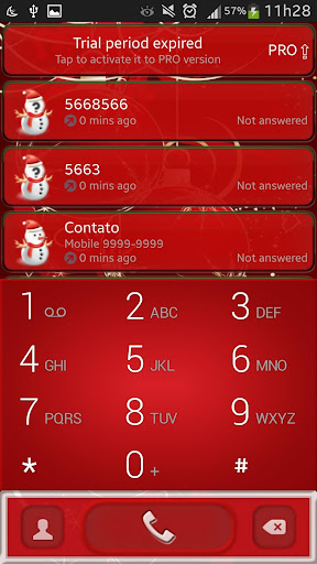 Christmas ExDialer Theme