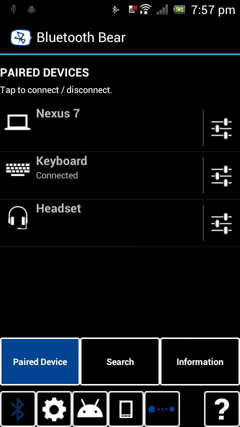 Bluetooth Bear - screenshot