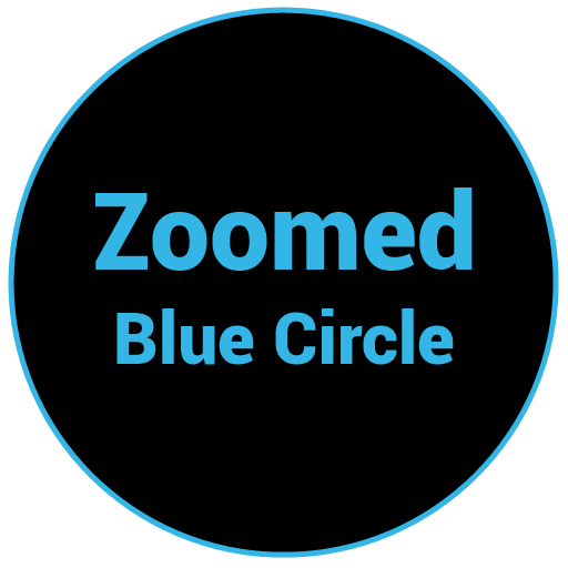 Zoomed Blue Circle 個人化 LOGO-阿達玩APP