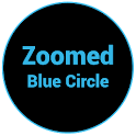 Zoomed Blue Circle