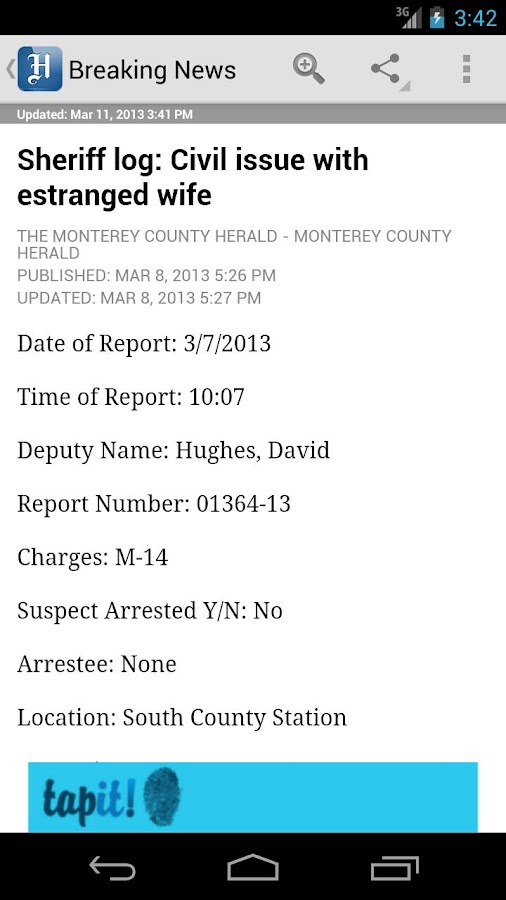 Monterey County Herald - screenshot