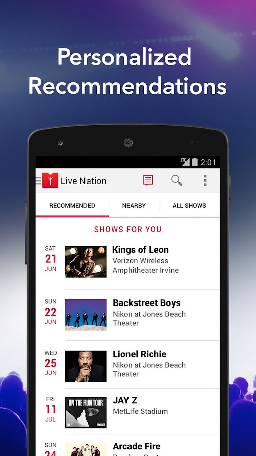 Live Nation – Concert Tickets- screenshot
