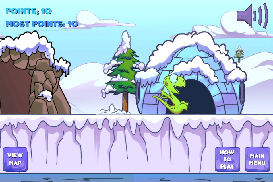 Winter Snow Family Slide Game - screenshot