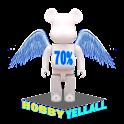 HOBBYYELLALL BEARBRICK 70%