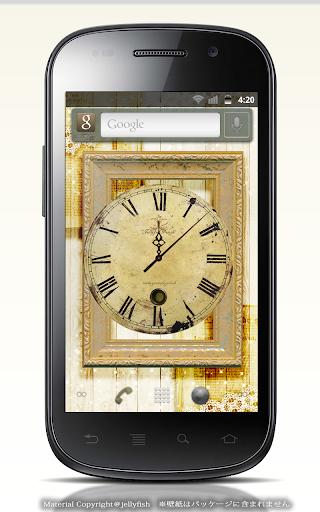 ビンテージアナログ時計ウィジェット