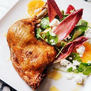 Orange Endive Salad with Chicken Confit