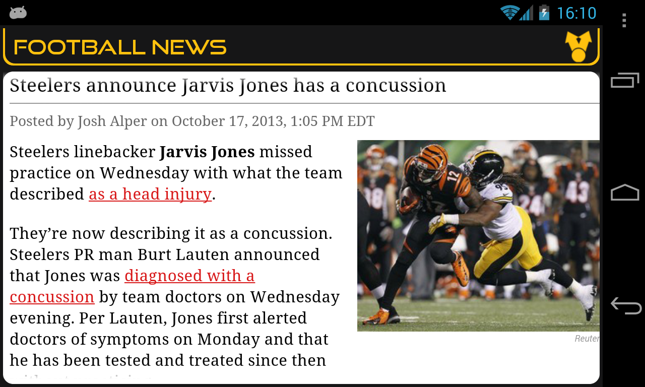 Pittsburgh Football News - screenshot