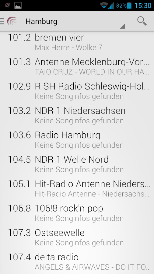 WebradioFM – Screenshot