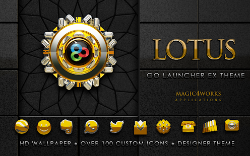GO Launcher EX theme Lotus