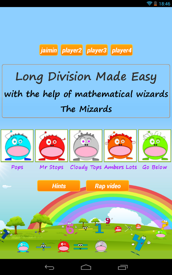 Long Division Games 4 Teachers- screenshot