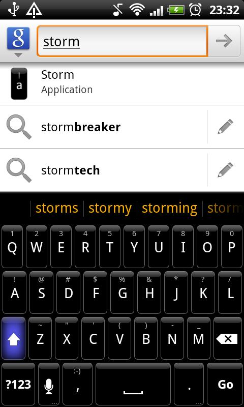 Storm - HD Keyboard Theme - screenshot