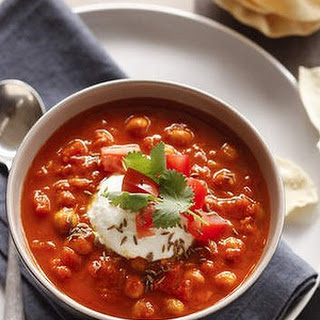Indian Tomato And Chickpea Soup.